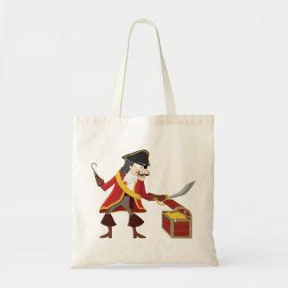Captain pirate tote bag