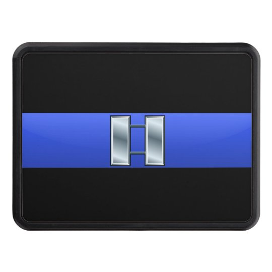 Captain Rank - Thin Blue Line Hitch Cover