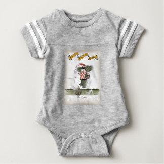 captain red white stripes baby bodysuit