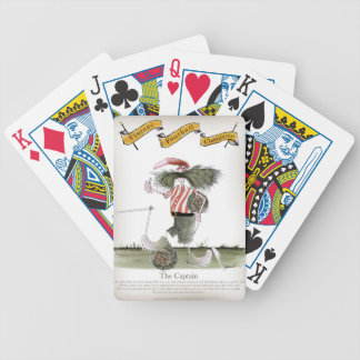 captain red white stripes bicycle playing cards