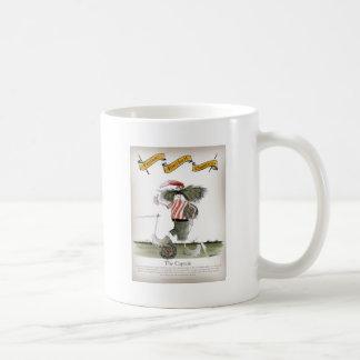 captain red white stripes coffee mug