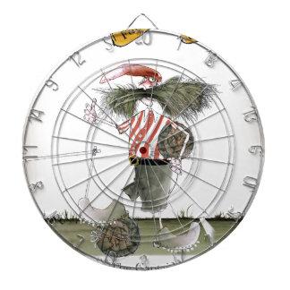 captain red white stripes dartboard