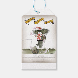 captain red white stripes gift tags