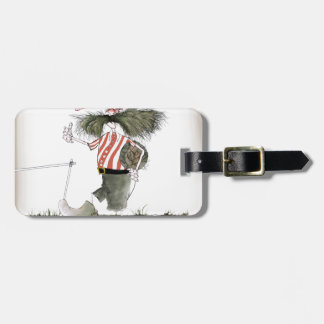 captain red white stripes luggage tag