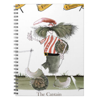 captain red white stripes notebook