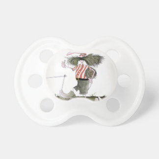 captain red white stripes pacifier
