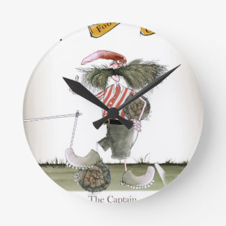 captain red white stripes round clock