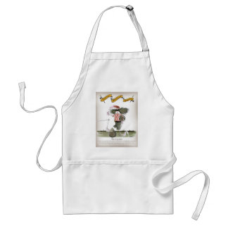 captain red white stripes standard apron