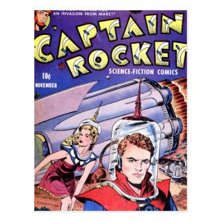 Captain Rocket Comic Postcard