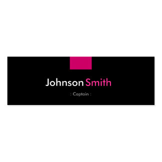 Captain - Rose Pink Compact Double-Sided Mini Business Cards (Pack Of 20)