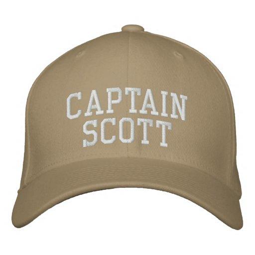 Captain Scott Embroidered Baseball Cap
