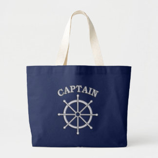 Captain Ship Wheel Canvas Tote Bag