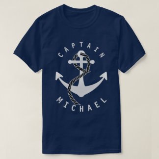 Captain Shirt Anchor Personalized