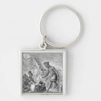 Captain Smith rescued by Pocahontas Key Chains