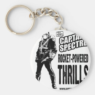Captain Spectre and the Lightning Legion Basic Round Button Keychain