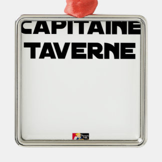 CAPTAIN TAVERN - Word games - François City Metal Ornament