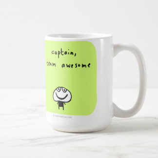 captain, team awesome coffee mug