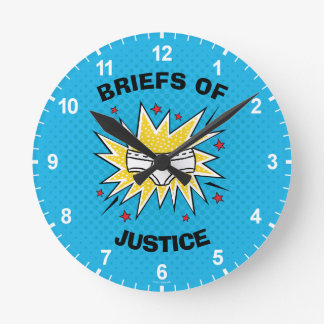 Captain Underpants | Briefs of Justice Wallclock