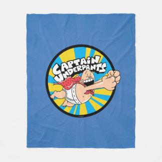Captain Underpants | Flying Hero Badge Fleece Blanket