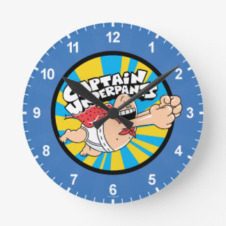 Captain Underpants | Flying Hero Badge Wallclock