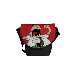 Captain Underpants | Principal Krupp Yelling Messenger Bag