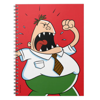 Captain Underpants | Principal Krupp Yelling Notebook
