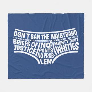 Captain Underpants   Typography Tighty Whities Fleece Blanket