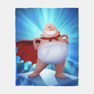Captain Underpants   Waistband Warrior On Roof Fleece Blanket