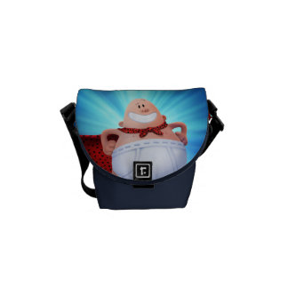 Captain Underpants | Waistband Warrior On Roof Messenger Bag