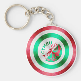 Captain Wales Basic Round Button Keychain