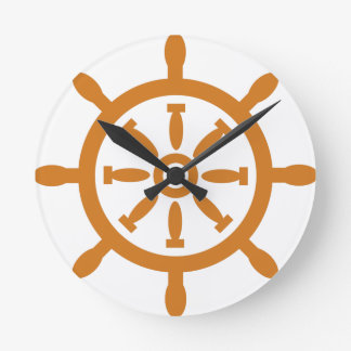 Captain Wheel Round Clock
