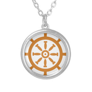 Captain Wheel Silver Plated Necklace
