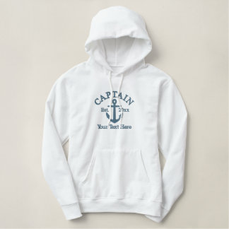 Captain - With Anchor customizable Embroidered Hoodie