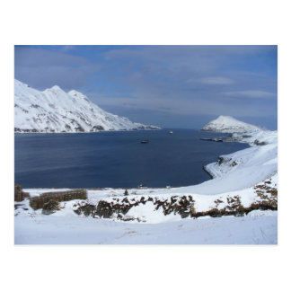 Captain's Bay in Winter, Unalaska Island Postcard
