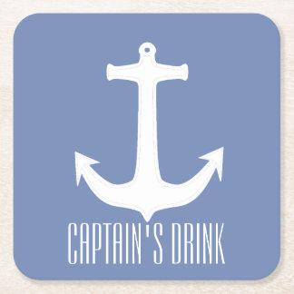 Captain's Drink Anchor Paper Coaster