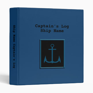 Captain's Log Book Binder