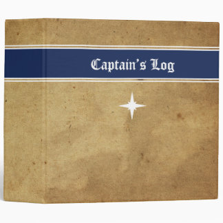 Captain's Log Nautical Journal 3 Ring Binders