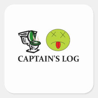 Captain's Log Square Sticker