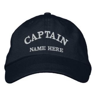 Captains Name Sailor Hat Embroidered Baseball Caps
