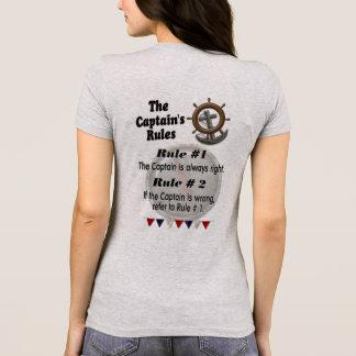 Captain's Rules -- LadiesT T-Shirt