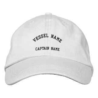 Captains Vessel Embroidered Cap White