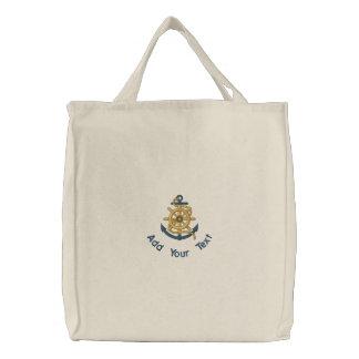 Captain's Wheel & Anchor Canvas Bags