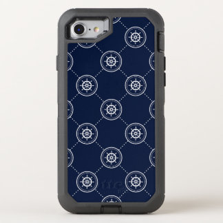 Captain'S Wheel Pattern OtterBox Defender iPhone 7 Case
