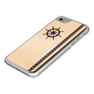 Captain's Wheel Wooden Phone Case