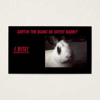 captin001, Captin The Blanc De Hotot Rabbit, I ... Business Card