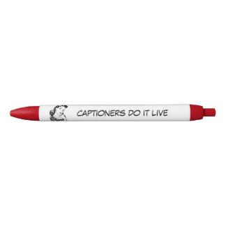 Captioners do it Live Quote Pens