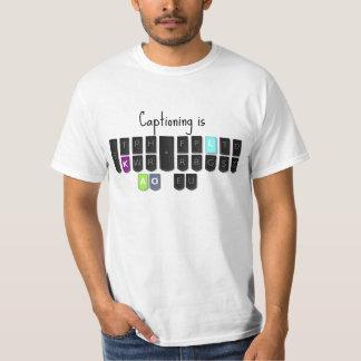 Captioning is Cool Steno Keyboard T-Shirt