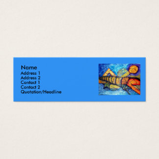 Captiva Fantasy - watercolor Mini Business Card