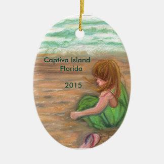 Captiva Island Florida Art Ceramic Ornament