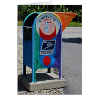 Captiva Island Mailbox- horizontal Card